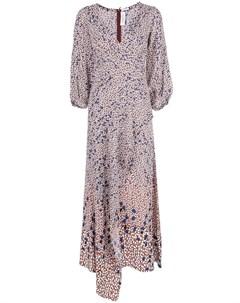 Платье макси Falling Leaf с принтом Yigal azrouel