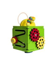 Деревянная игрушка Бизиборд кубик Мини Woodle