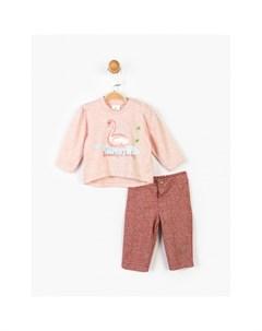 Комплект для девочки кофта и брюки PN14902 Panolino