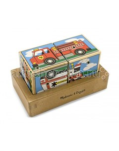 Развивающая игрушка Звуковые пазлы Кубики Транспорт Melissa & doug