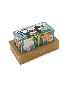 Развивающая игрушка Звуковые пазлы Кубики Ферма Melissa & doug