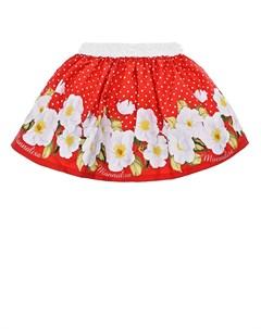 Красная юбка солнце детская Monnalisa