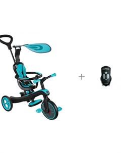 Велосипед трехколесный беговел Trike Explorer 4 в 1 со звонком Puky G20 Globber
