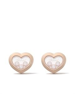 Серьги гвоздики Happy Diamonds из розового золота с бриллиантами Chopard