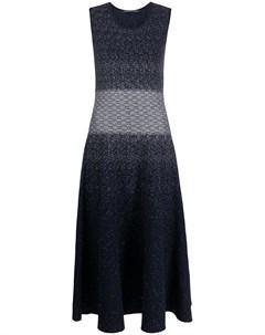 Трикотажное длинное платье без рукавов Antonino valenti