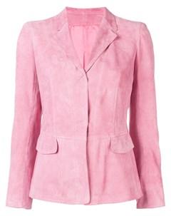Приталенный замшевый пиджак Sylvie schimmel