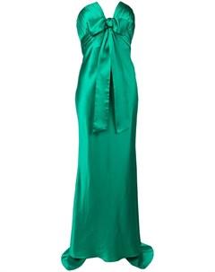 Вечернее платье без бретелей Alessandra rich