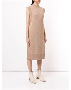 Платье миди Chaima без рукавов с высоким воротником Rodebjer