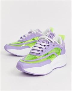 Фиолетовые кроссовки в стиле колор блок Sixty Seven Sixtyseven