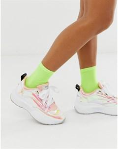 Радужные кроссовки на массивной подошве с голографическим эффектом Sixty Seven Sixtyseven