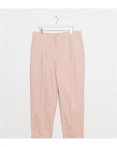 Розовые брюки чиносы ASOS DESIGN Curve Asos curve