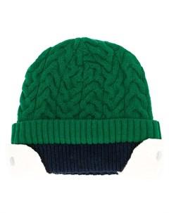 двухслойная шапка бини фактурной вязки Sunnei