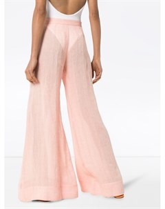 Широкие брюки средней посадки Lisa marie fernandez