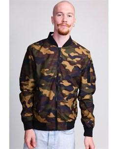Куртка Light Camo Bomber Jacket Dark Camo S Urban classics