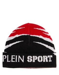 Шапка шерстяная с принтом Plein sport