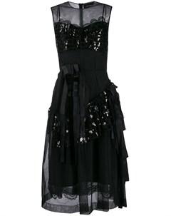 Платье из тюля с пайетками Simone rocha