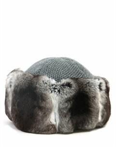 Кашемировая шапка с мехом Inverni