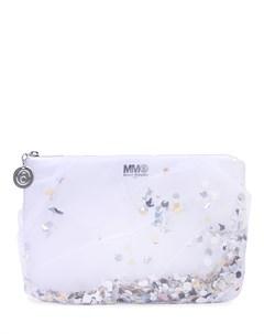 Клатч текстильный с камнями Mm6