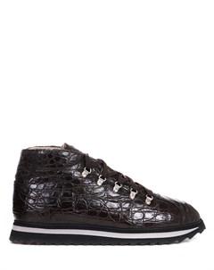 Ботинки из кожи крокодила Doucal's