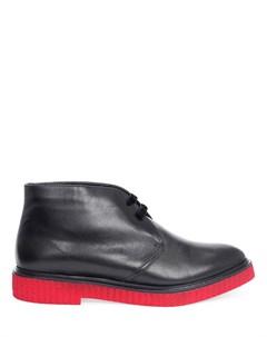 Кожаные ботинки дезерты с мехом Fratelli rossetti