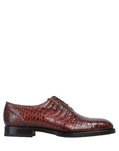 Туфли оксфорды из крокодила Fratelli rossetti