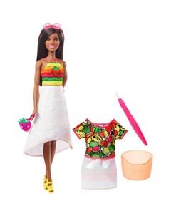 Кукла Crayola Радужный фруктовый сюрприз брюнетка Barbie
