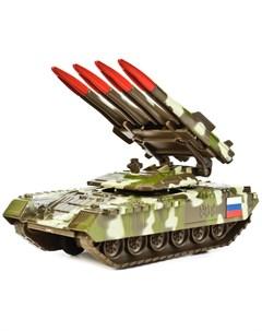 ТЕХНОПАРК Танк инерционный с ракетной установкой 12 см Технопарк