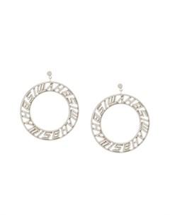 Серьги кольца с логотипом Misbhv