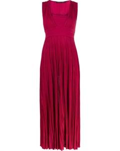 Плиссированное платье с квадратным вырезом Antonino valenti