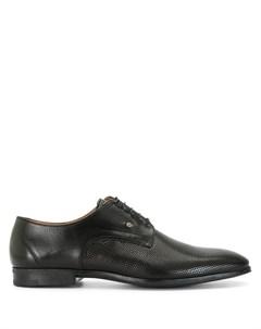 Туфли дерби на шнуровке с перфорацией Stemar