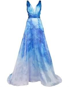 Расклешенное платье с принтом Marchesa notte