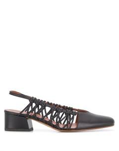 Плетеные туфли Cross с ремешком на пятке Michel vivien