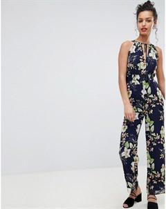 Комбинезон с халтером и цветочным принтом Uttam boutique