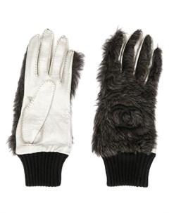 перчатки с логотипом CC Chanel pre-owned