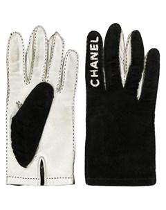 перчатки с логотипами Chanel pre-owned