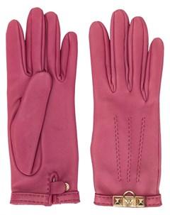перчатки с металлической пряжкой Hermès