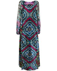 Шифоновое платье с принтом Afroditi hera