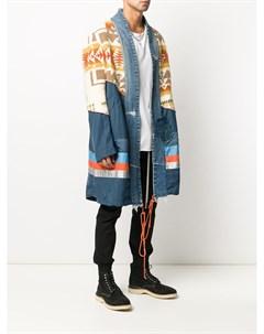 Пальто оверсайз со вставками Greg lauren