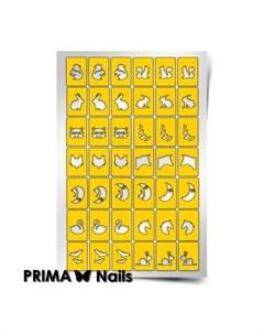 Трафареты Крылья ноги и хвосты 1 Prima nails