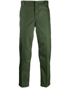 укороченные брюки с логотипом Prada