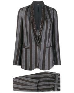 брючный костюм в полоску Brunello cucinelli
