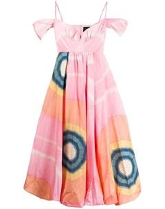 Платье с контрастным принтом Simone rocha