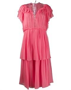 Ярусное платье с оборками Alberta ferretti