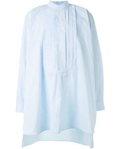 Удлиненная рубашка без воротника Hed mayner