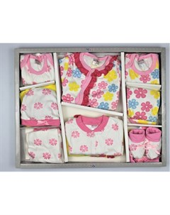 Комплект на выписку для новорожденного Цветы 12 предметов Bonito kids