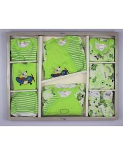 Комплект на выписку для новорожденного Flying dog 12 предметов Bonito kids