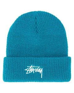 шапка бини с вышитым логотипом Stussy
