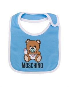 нагрудник с принтом Moschino kids