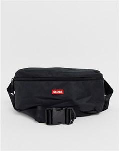 Черная сумка кошелек на плечо с логотипом Bar Globe