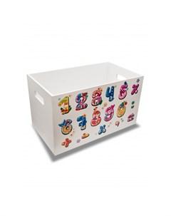 Ящик для игрушек Читай считай для девочек Rodent kids